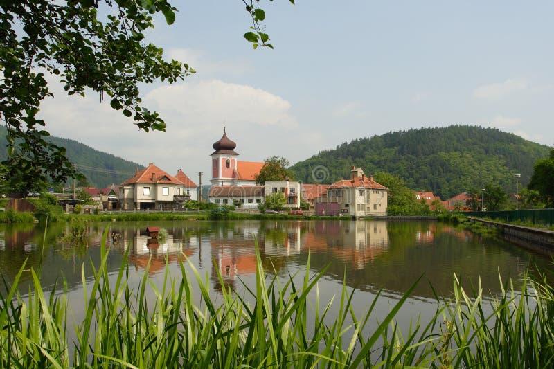 Het dorp van Nedvedice stock afbeelding
