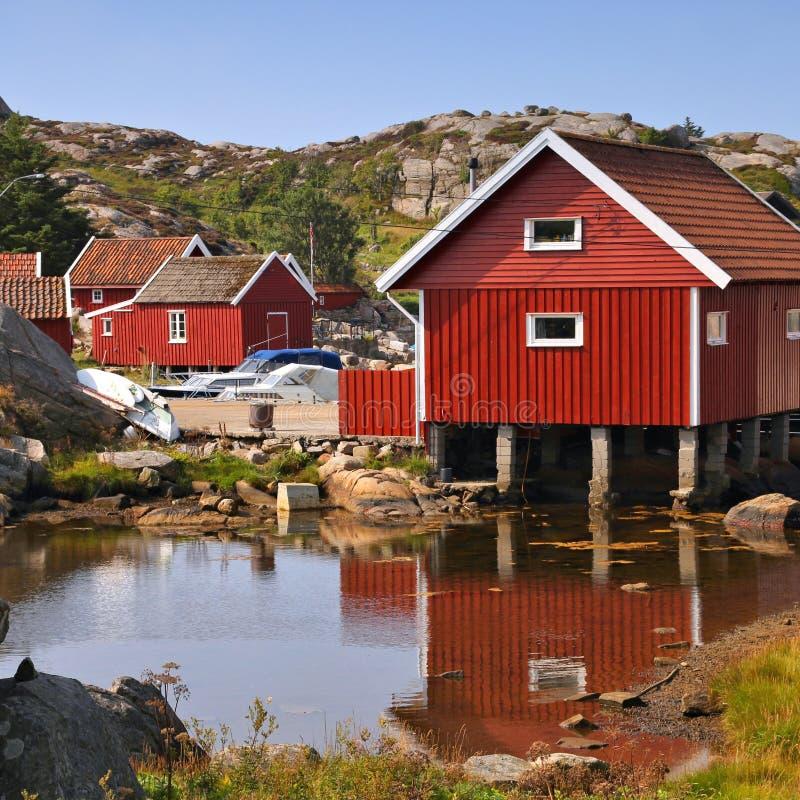 Het dorp van Noorwegen royalty-vrije stock afbeeldingen