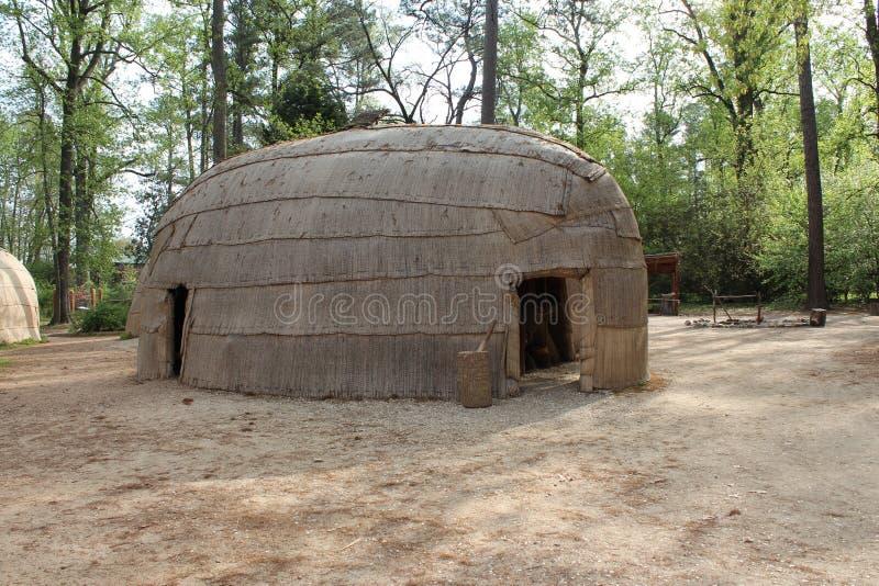 Het Dorp van Powhatan stock afbeeldingen