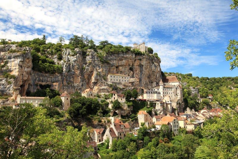 Het Dorp van Rocamadour stock foto's