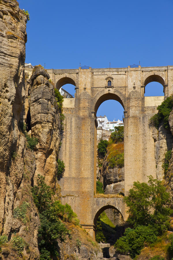Het dorp van Ronda in Andalusia, Spanje. stock afbeeldingen