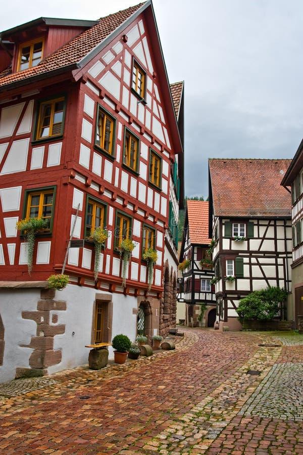 Het dorp van Schiltach in Duitsland stock fotografie