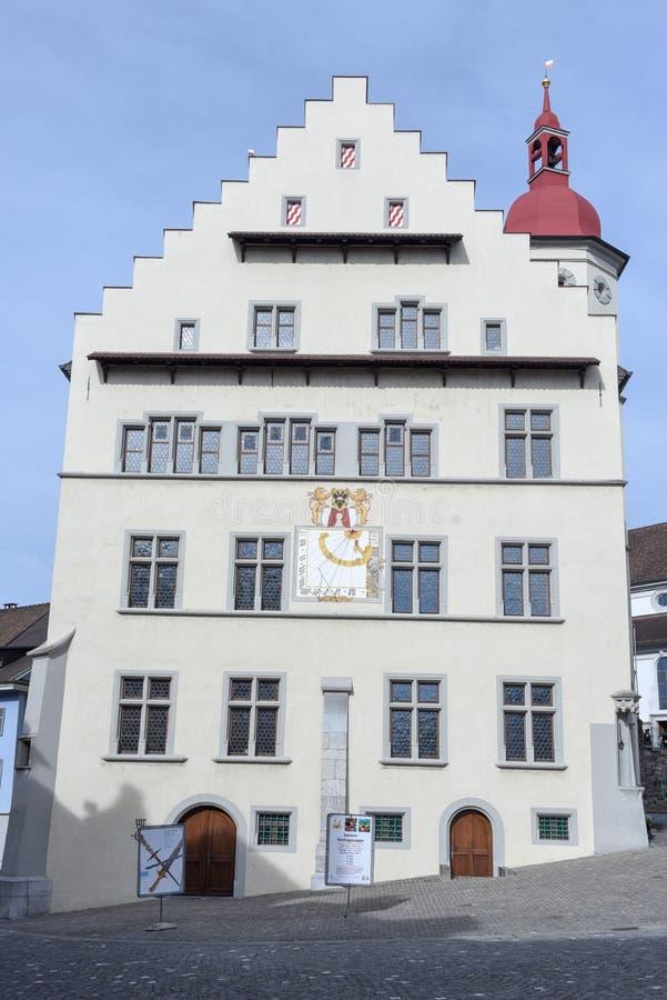 Het dorp van Sursee op Zwitserland royalty-vrije stock afbeeldingen