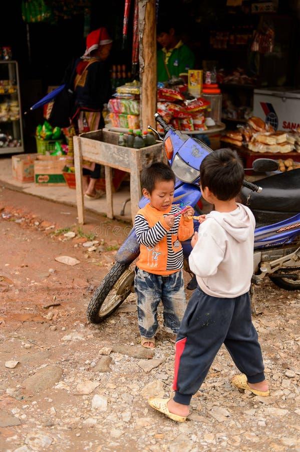 Het dorp van Ta Phin in Vietnam royalty-vrije stock foto