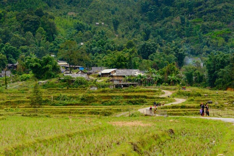 Het dorp van Ta Phin in Vietnam royalty-vrije stock afbeelding