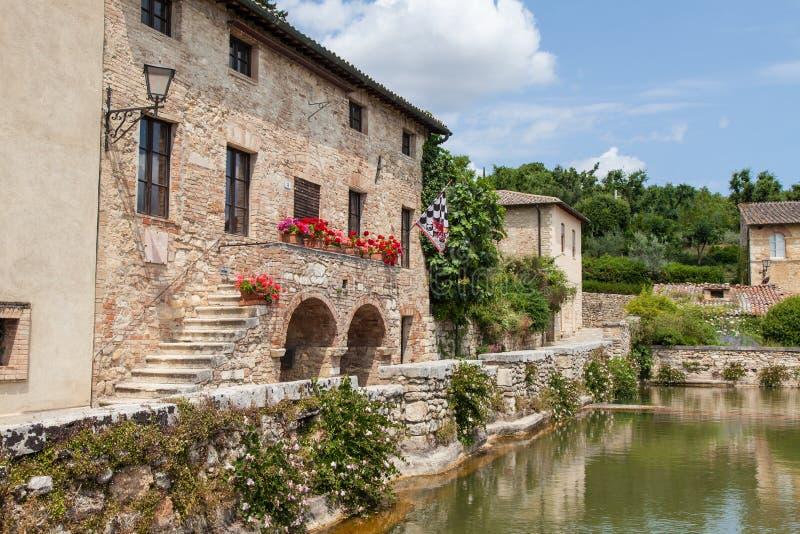 Het Dorp van Toscanië royalty-vrije stock foto