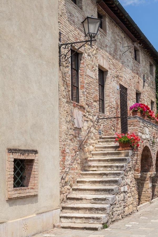 Het Dorp van Toscanië royalty-vrije stock afbeelding