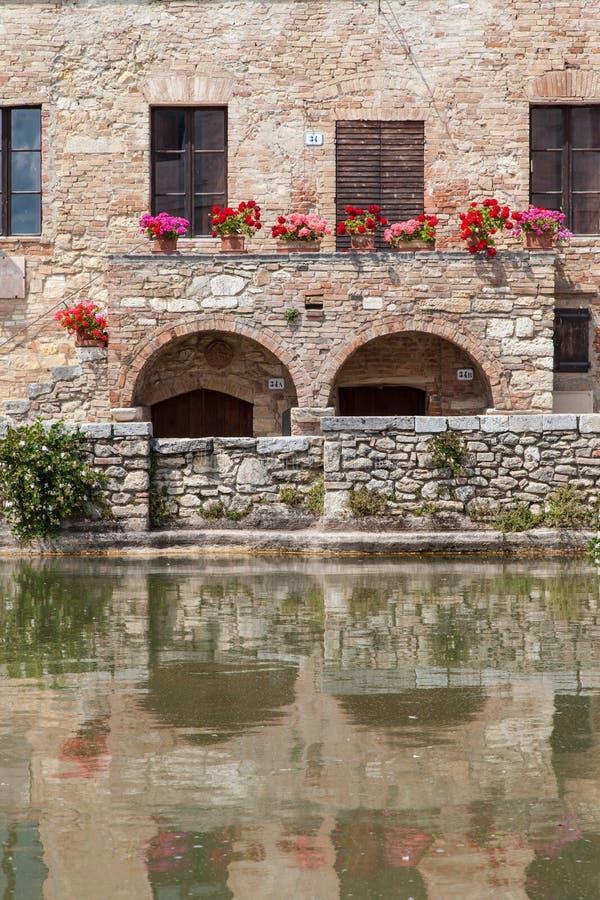 Het Dorp van Toscanië stock fotografie