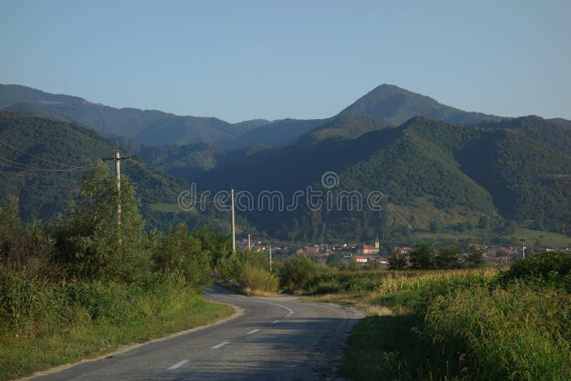 Het dorp van Turnurosu in Transsylvanië, Roemenië royalty-vrije stock fotografie