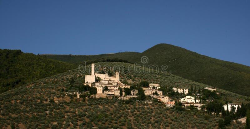 Het dorp van Umbrië stock foto's