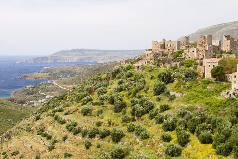 Het Dorp van Vathia, Griekenland royalty-vrije stock foto's