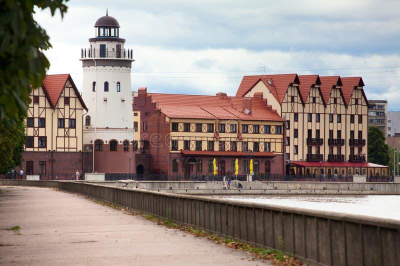 Het Dorp van vissen. Kaliningrad royalty-vrije stock fotografie