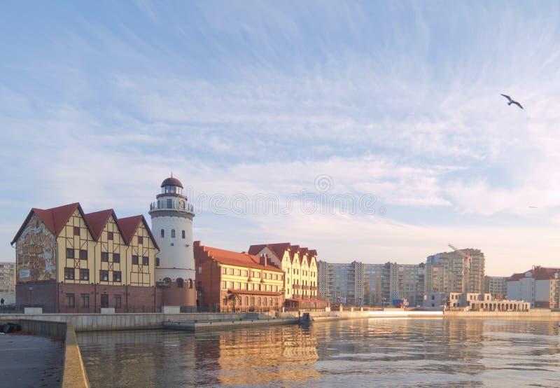 Het Dorp van vissen in Kaliningrad/Rusland royalty-vrije stock fotografie