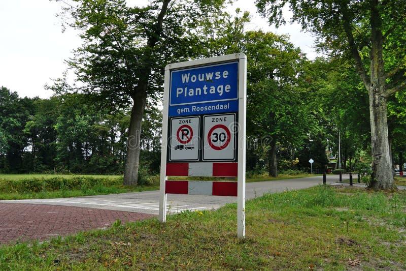 Het dorp van Wouwseplantage in Nederland royalty-vrije stock afbeelding