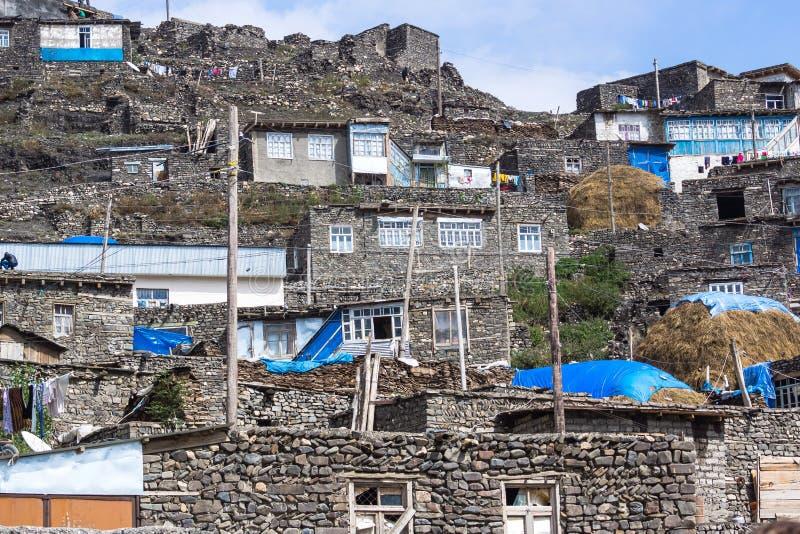 Het dorp van Xinaliq royalty-vrije stock afbeelding