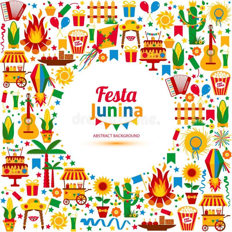 Het dorpsfestival van Festajunina in Latijns Amerika vector illustratie