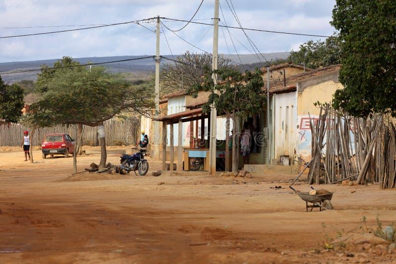 Het dorpsleven in Brazilië in Petrolina stock afbeeldingen