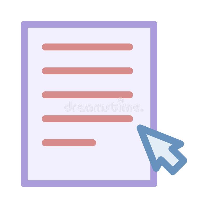 Het dossier klikt pictogram stock illustratie