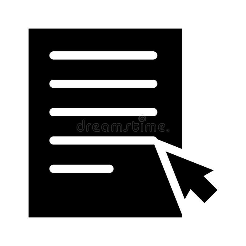 Het dossier klikt pictogram vector illustratie