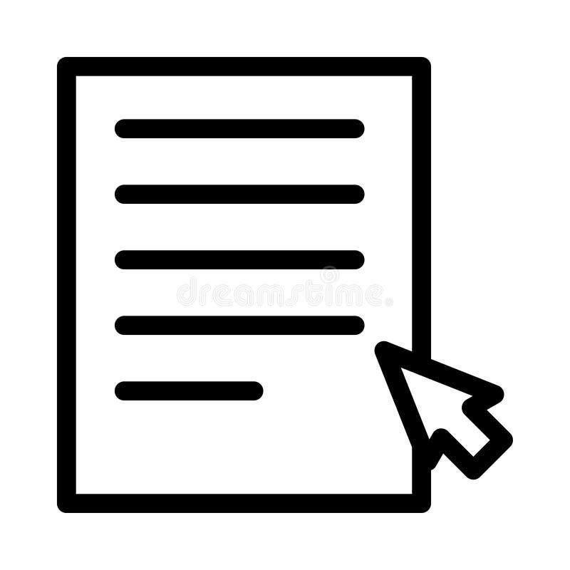 Het dossier klikt pictogram royalty-vrije illustratie