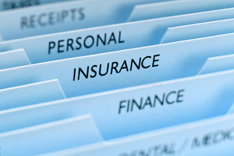 Het Dossier van de verzekering royalty-vrije stock foto's
