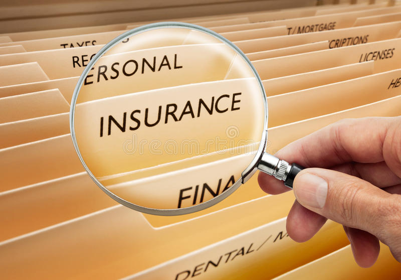 Het Dossier van de verzekering royalty-vrije stock afbeeldingen