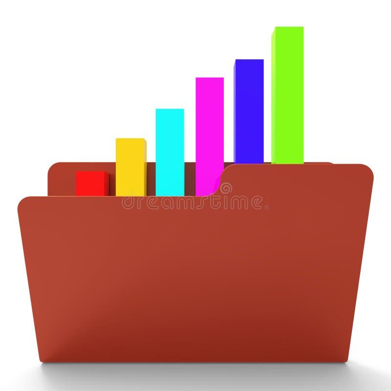 Het dossierrapport wijst Bedrijfs op Grafiek en Analyse vector illustratie