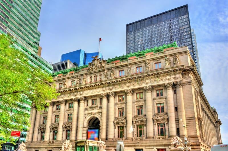Het douanekantoor Van Alexander Hamilton in de Stad van New York in lager Manhattan S Douanehuis, een historisch gebouw in de Sta royalty-vrije stock afbeeldingen