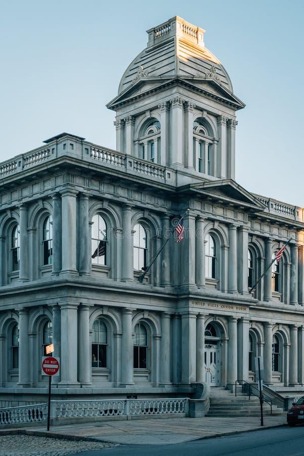Het Douanekantoor van Verenigde Staten in Portland, Maine stock fotografie