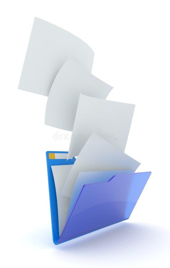 Het downloaden van dossiers. vector illustratie