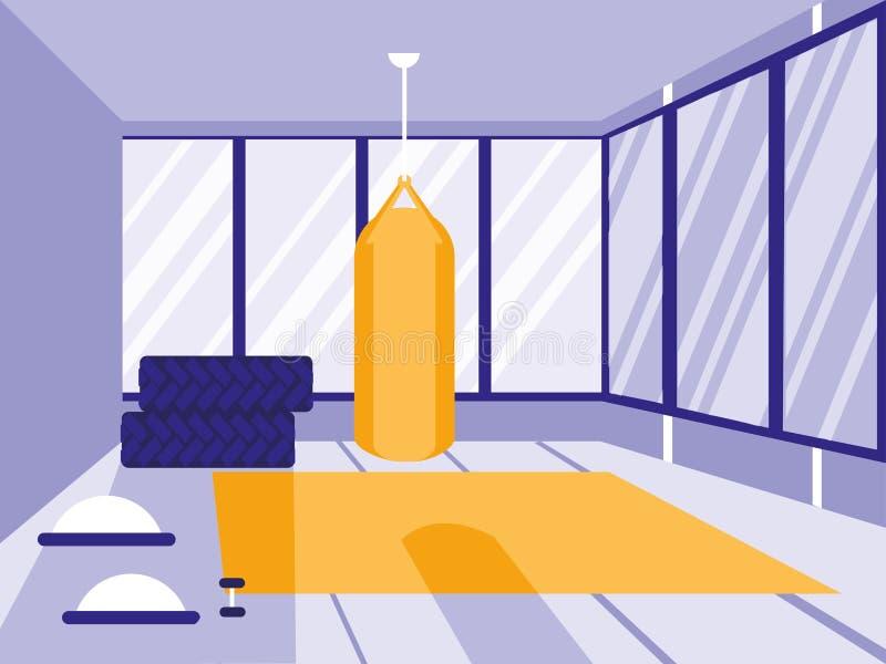 Het in dozen doen duw in sportgymnastiek geïsoleerd pictogram stock illustratie
