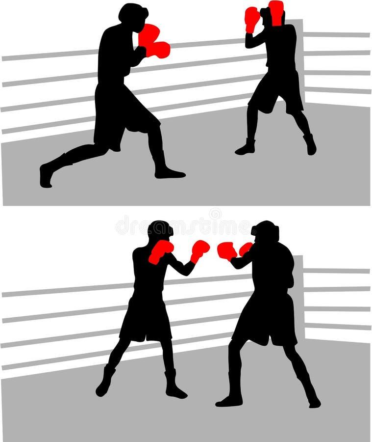 Het in dozen doen strijd vector illustratie