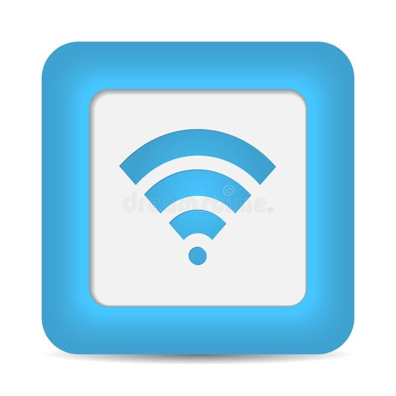 Het draadloze Symbool van het Netwerk (Wifi). Vector royalty-vrije illustratie