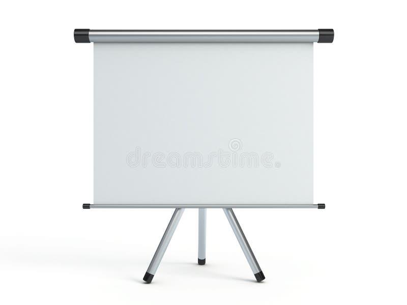 Het draagbare projectiescherm royalty-vrije illustratie