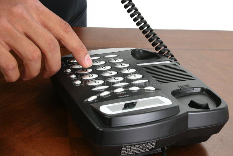 Het Draaien van de hand Telefoon stock afbeelding