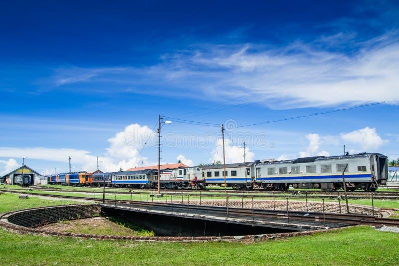 Het Draaien van de trein Brug stock afbeeldingen