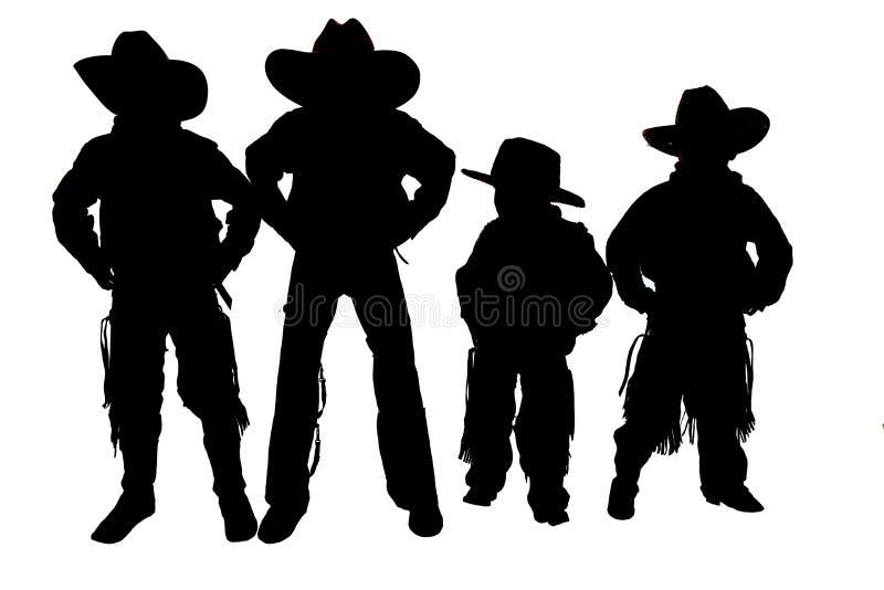 het dragen van cowboyhoeden en laarzen stock afbeelding