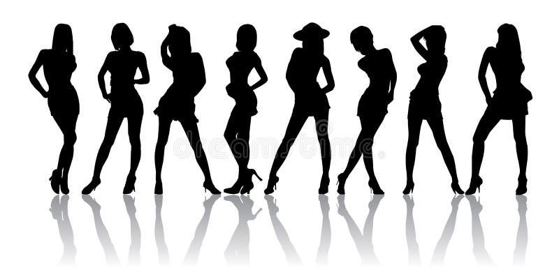 Het dragen van een Sexy Rok stock illustratie
