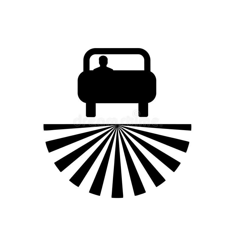Het drijven door auto royalty-vrije stock afbeelding