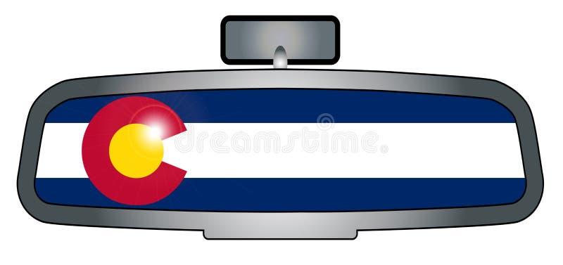 Het drijven door Colorado royalty-vrije illustratie