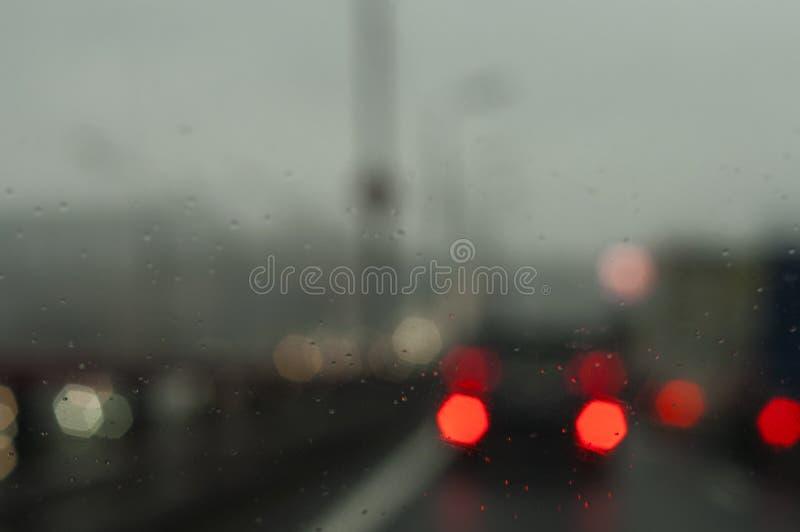 Het drijven in een Regen stock foto