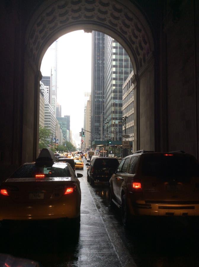 Het drijven in Manhattan royalty-vrije stock afbeeldingen