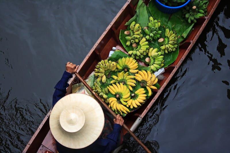 Het Drijven van Bangkok Markt stock fotografie