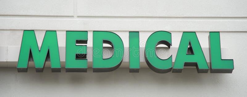 Het dringende Teken van de Medische behandelingkliniek royalty-vrije stock afbeelding