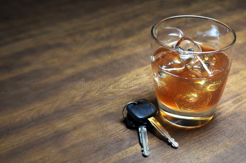 Het drinken en het Drijven royalty-vrije stock foto