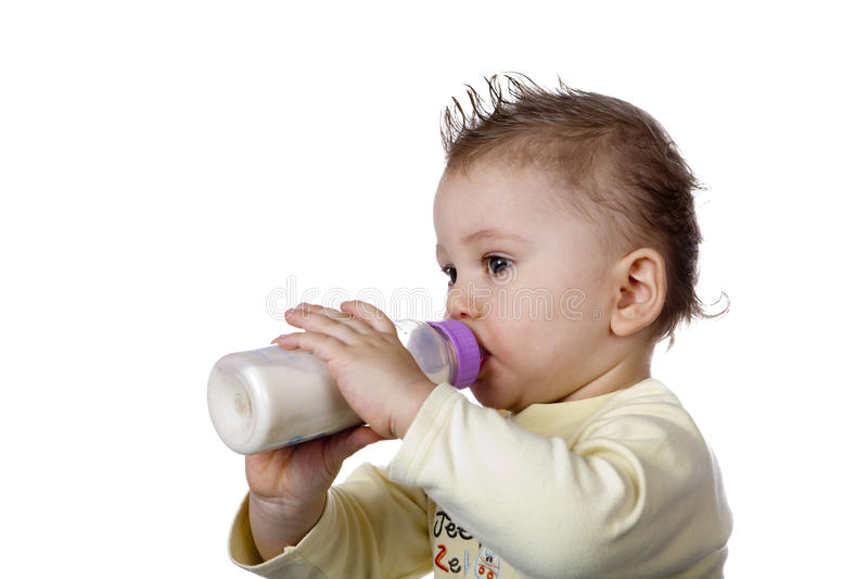 Het drinken van de baby royalty-vrije stock foto's