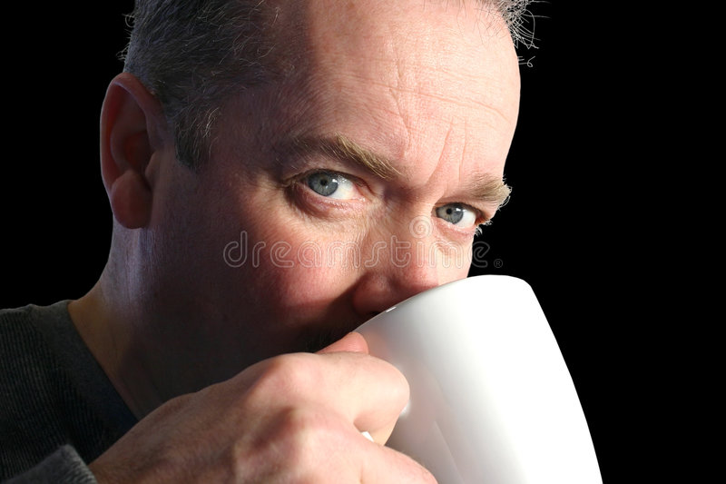 Het Drinken van de mens Koffie royalty-vrije stock fotografie
