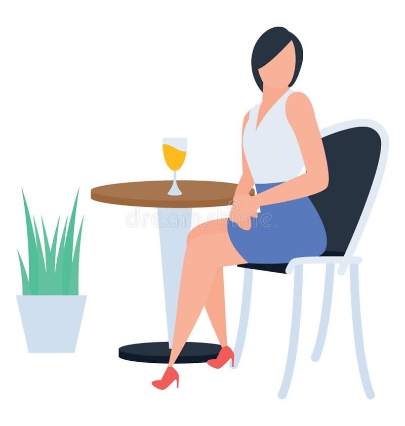 Het drinken van het meisje sap royalty-vrije illustratie