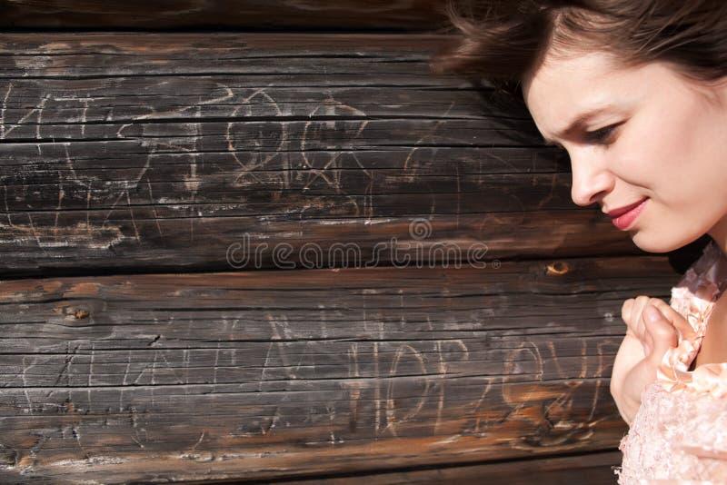 Het droevige meisje stock foto's