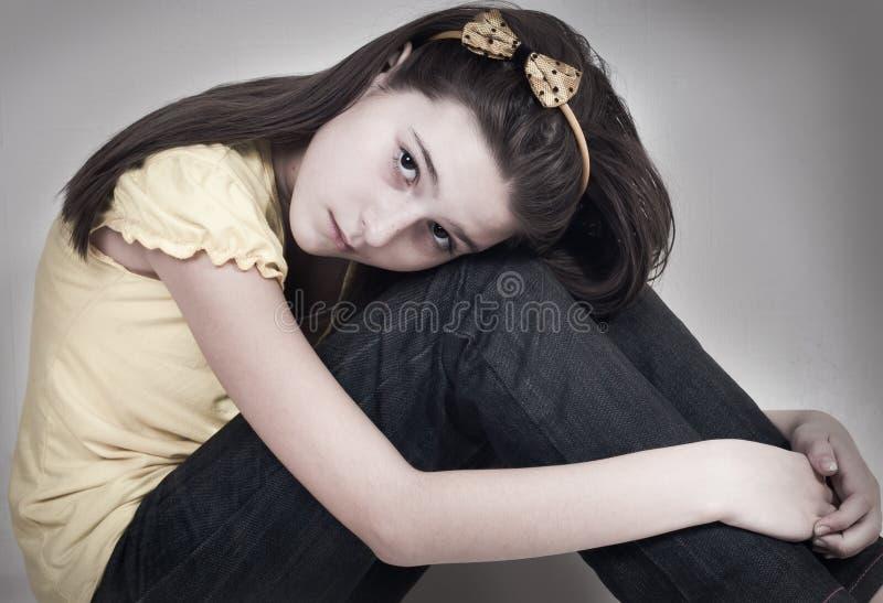Het droevige meisje royalty-vrije stock foto